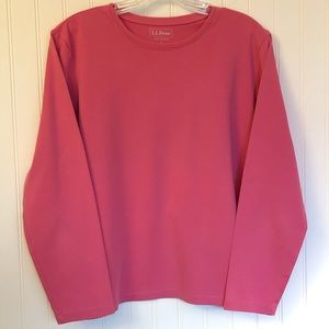 L.L. Bean Pink Long Sleeve Tee Size Large
